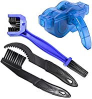 Bicycle Chain Cleaner Kit, 4 PCS Set Motorcycle Gear Chain Cleaner Bike Chain Brush Tools, Mountain Bike Parts