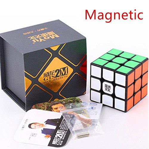 CuberSpeed MoYu WeiLong GTS2 M Black 3x3 Magic cube magnetic