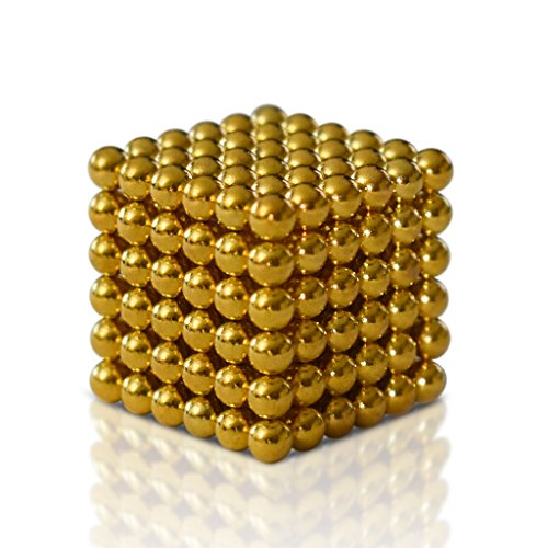 ROPPYAR 222 PCS 5mm Magnetic Ball Set for Office Stress Relief |Desk Sculpture Toy Perfect for Crafts,Jewelry and Education|Magnetized Fidget Cube Provides Relief for Anxiety,ADHD,Autism, Boredom