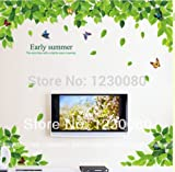 【 Professional for Lush Green Leaf amp Colorful Butterflies Wall Sticker Art Decals Mural Home Decor 】           Product Specifications:           Unit Type: piece       Package Weight: 0.3kg (0.66lb.)       Package Size: 12cm x 10cm x 12cm (...