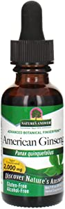 Nature's Answer Ginseng American Root Alcohol-Free, 1-Fluid Ounce | Promotes Vitality | Immune Support Booster | Improves Cognitive Function | Natural Energy Increase