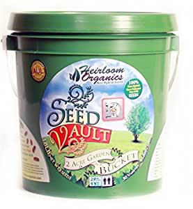 Heirloom Organics NON-GMO Survival Seed Vault - 30 Varieties - 55,000+ Non-Hybrid Seeds - Hermetically Sealed for Long Term Storage