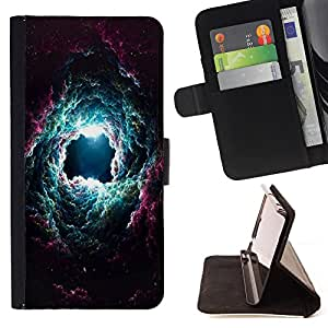 Dragon Case- Caja de la carpeta del caso en folio de cuero del tir¨®n de la cubierta protectora Shell FOR Apple iPhone 6 6S 4.7 - Space Thunver storm
