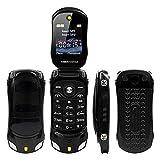 Sports Car Model F15 Mini Flip Phone Dual SIM Card MP3 Backup Phone