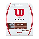 #9: Wilson Duo Feel 16g Hybrid Tennis Racket String (Luxilon Element and NXT)