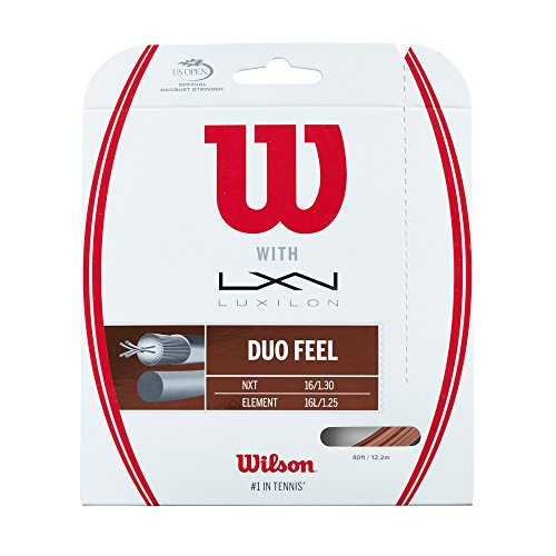 (Wilson Duo Feel 16g Hybrid Tennis Racket String (Luxilon Element and NXT))