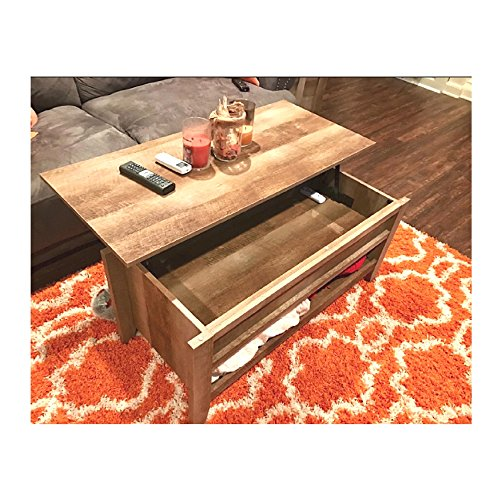Coffee Table with Lift Top Industrial Farmhouse Rustic L