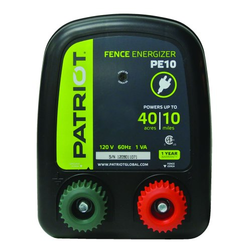 Patriot PE10 Electric Fence Energizer, 0.30 Joule by Patriot