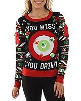 Ugly Christmas Sweater Mens Multi Stripe...