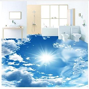 3D Hintergrundbild Wallpaper Boden Pvc Wandbild Benutzerdefinierte Wandbild  Tapete Modern Blue Sky Sunshine Bodenfliesen Aufkleber Bad