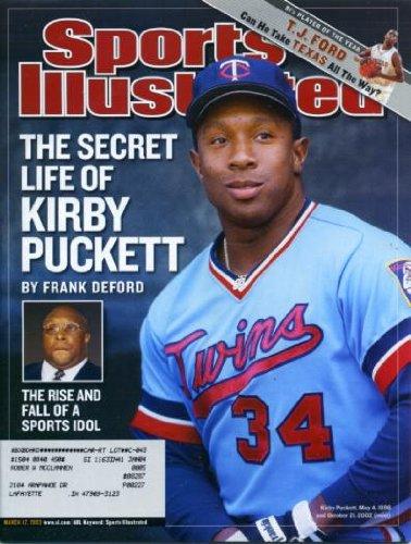Minnesota Twins Magazine (Sports Illustrated March 17, 2003 Kirby Puckett/Minnesota Twins, T.J. Ford/Texas, Boston Red Sox, San Antonio Spurs)