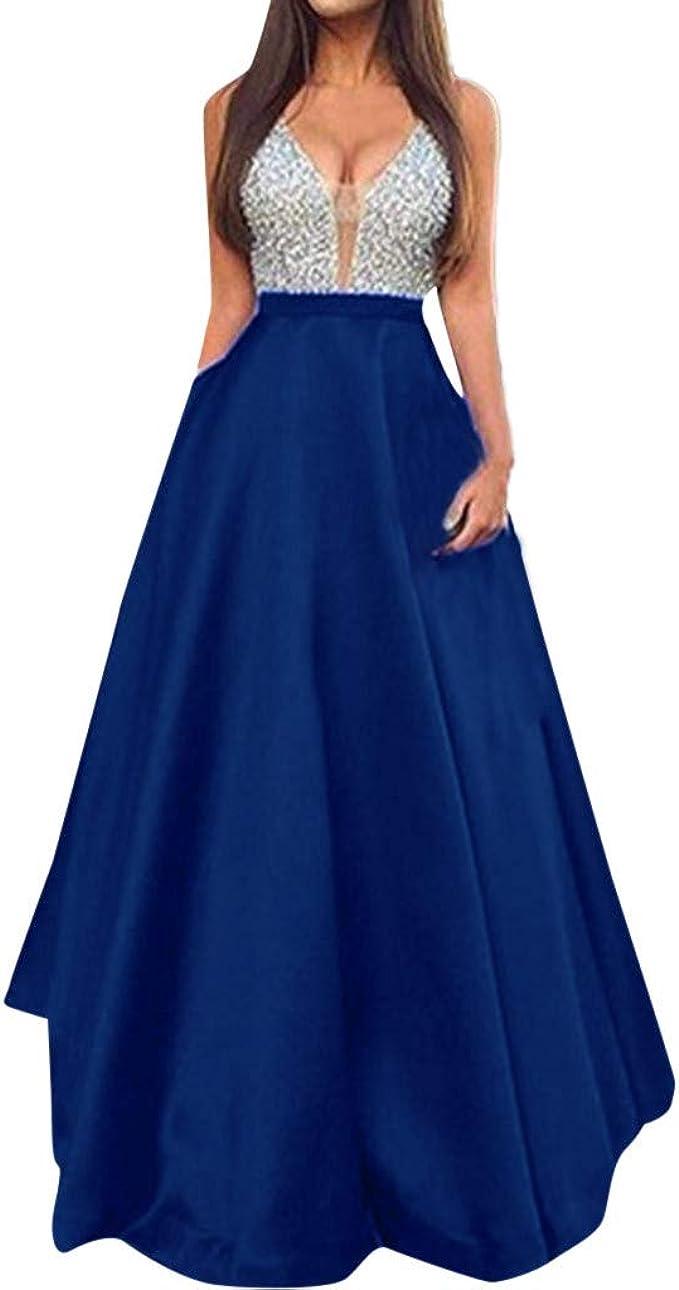 feiXIANG Damen Elegante Partykleid brautkleid Abendkleid v