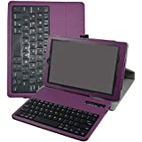 "Fire HD 10 Wireless Keyboard Case,Mama Mouth Coustom Design Slim Stand PU Leather Case Cover with Romovable Wireless Keyboard for 10.1"" Amazon Fire HD 10 Tablet 5th Generation 2015 Release,Purple"