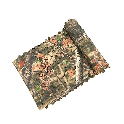 Auscamotek 300D Camo Netting Camouflage Net Blinds Material for Hunting Accessories Ground Portable Blind Tree Stand Chair Brown 5x10 Feet