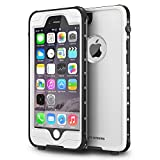 ImpactStrong iPhone 6 Plus Waterproof Case [Fingerprint ID Compatible] Slim Full Body Protection for Apple iPhone 6 Plus & 6s Plus (5.5') - White