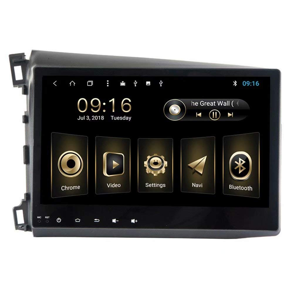 TOPNAVI para Honda Civic 2012 2013 2014 Android 8.1 Unidad Principal Car Table Navegación GPS Car Radio estéreo con Octa Core 32GB ROM 2GB RAM WiFi 3G ...