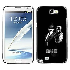 Caucho caso de Shell duro de la cubierta de accesorios de protección BY RAYDREAMMM - Samsung Galaxy Note 2 N7100 - MAFIA