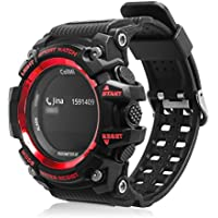 ColMi T1 Smart Wristwatch OLED Display Heart Rate Monitor Waterproof Push Message Call Reminder for Android for iOS Phone (red)