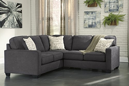 Alenya Vintage Casual Charcoal Fabric Right Chaise Sectional Sofa (Raf Chaise Sectional)