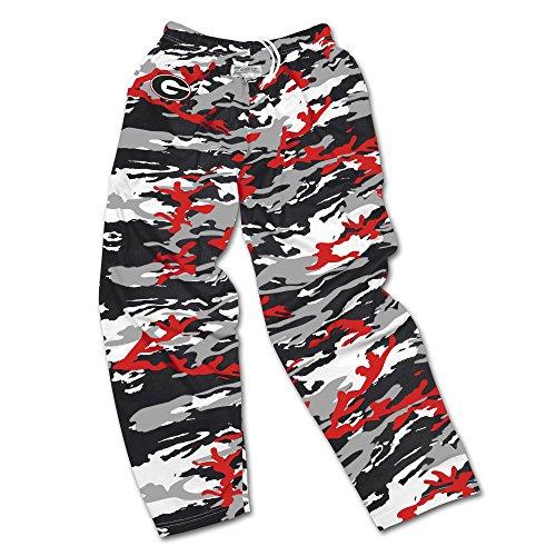 Zubaz NCAA Georgia Bulldogs Men's Camo Print Team Logo Casual Active Pants, Large, ()