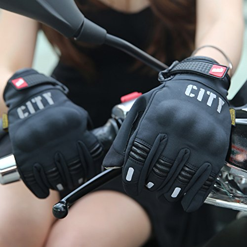 Madbike Stealth Hard Knuckle Motorcycle Gloves Touch Screen Motorbike Powersports Racing Tactical Paintball Black (L) by MADBIKE RACING EQUIPMENT (Image #4)