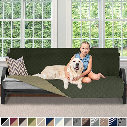 Sofa Shield Original Patent Pending Reversible Futon Slipcover, Dogs, 2