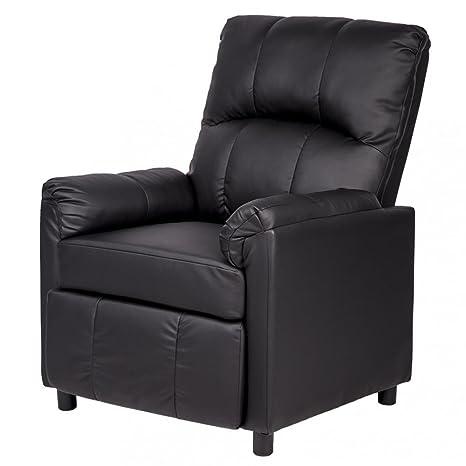 Amazon.com: piel único Brazo Silla Reclinable sofá sofá ...