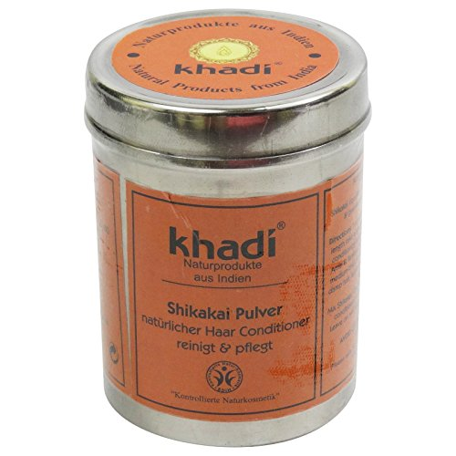(KHADI - Shikakai Powder - Care for dandruff & thinning hair - Alleviates itchy scalp - Replaces shampoo & conditioner - Provides silky shine & volume)