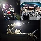 Partsam 6 Inch Light Bar Flood Led Boat