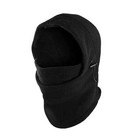 007561a3a9e Image Unavailable. Image not available for. Color  Change Fashion 6 in 1  Neck Balaclava Winter Face Hat Fleece Hood Ski Mask ...