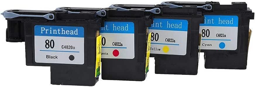 Eboxer Cabezal de Impresión HP80 Designjet Series 1000/1050/1055, sin Atasco de Papel,C4820a negro/C4822a magenta/C4823a amarillo/C4821a Cian/CMYK(Cuatro Juntos): Amazon.es: Electrónica