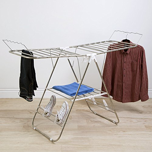 Heavy Duty Laundry Drying Rack- Stainless Steel Clothing Shelf for Indoor and Outdoor Use Best Used for Shirts Pants Towels Shoes by Everyday Home by Everyday Home (Image #5)