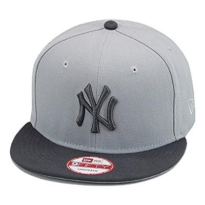 New Era New 9fifty York Yankees Snapback Hat Cap Light Grey/Dark Grey MLB Baseball
