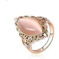 MeenanoomFashion Women Rose Gold Gem Opal Cat Eye Ring Wedding Bridal Jewelry Size 6-9 (8)