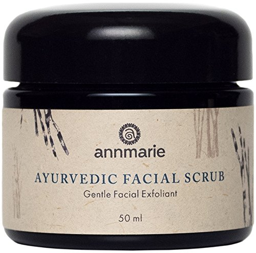Annmarie Skin Care Ayurvedic Facial Scrub - Gentle Facial Exfoliant with Rosemary, Moroccan Rhassoul Clay + Fenugreek (50ml / 1.7 fl oz) (Best Ayurvedic Skin Care Products)