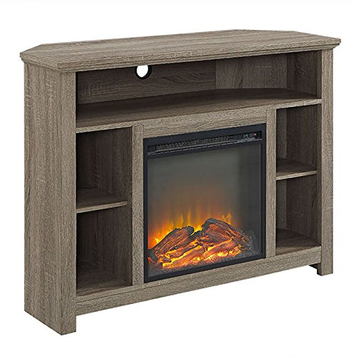 Walker Edison Designs Corner Electric Fireplace