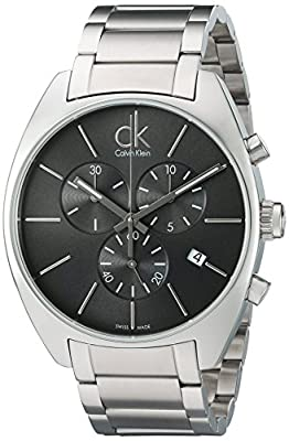 Calvin Klein Men's 'Exchange' Swiss Quartz Stainless Steel Automatic Watch, Color:Silver-Toned (Model: K2F27161)