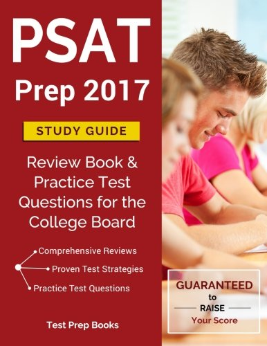 PSAT Prep 2017 Study Guide: Review Book & Practice Test Questions for the College Board PSAT/NMSQT cover