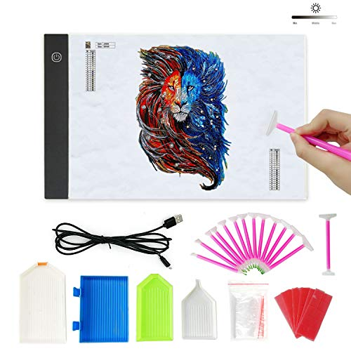 - Lumsburry 5D Diamond Painting Advanced Kits, Tools Set with A4 LED Light Box, DIY Tools Sticky Pens, Trays, Taps Accessories for Diamond Painting