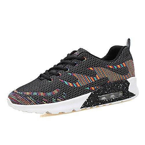 JD8010heise39 EnllerviiD Women Mesh Air Max Sports Running Shoes Fashion Walking Sneakers Black 7 B(M) US
