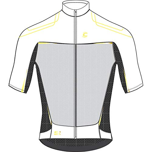 Cannondale 2015 Men's Elite Nano Short Sleeve Cycling Jersey - 5M117 (White - S)