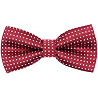 OCIA Pre-tied Bow Tie for Boys Adjustable Polka Dots Bowtie for Toddler Kids