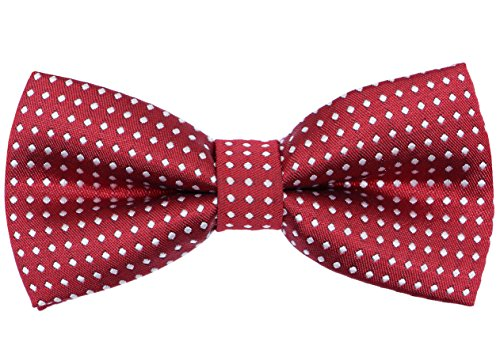 (OCIA Boys Polka Print Decoration Bow Tie Red)