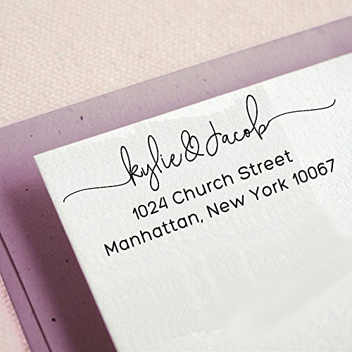 Personalized Return Family Address Stamps Wedding Invites Self Inking Custom Stamp Proposal Idea Gift]()