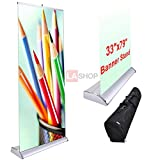 33'' x 79'' Professional Luxurious Rollup Retractable Banner Stand