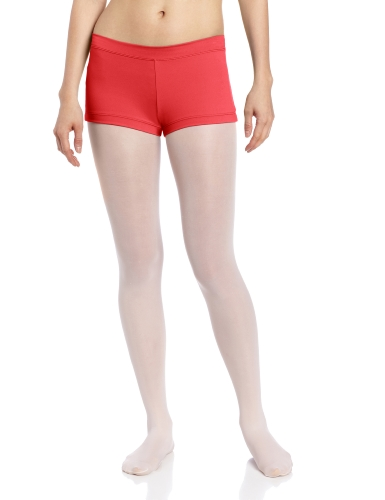 Red Spandex Shorts - Capezio Women's Team Basic Boy Cut Low Rise Short, Red, Small
