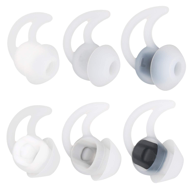alxcd Almohadillas para Bose SoundSport Libre Auricular, S/M/L 3 Par de Repuesto Suave Silicona Earbud Consejos, apropiado para Bose quietcontrol 30 QC30 ...