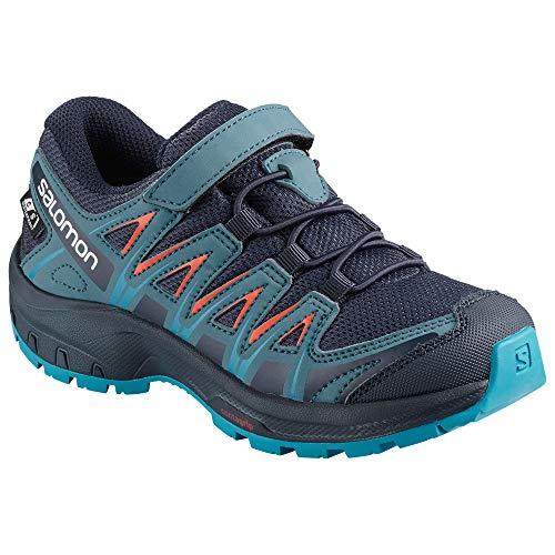 (Salomon Kinder XA Pro 3D CSWP J, Trailrunning-Schuhe, Wasserdicht, blau (navy blazer / mallard blue / hawaiian surf), Größe 27)