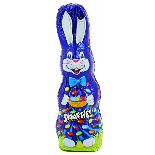 Smarties Chocolate Easter Bunny Filled With Colorful Chocolate Smartie Candies