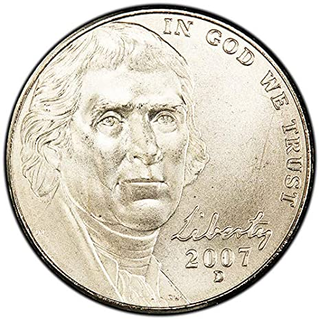 2007 S Proof Jefferson Nickel Choice Uncirculated US Mint